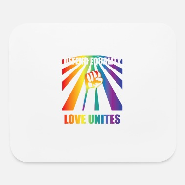 Awesome Rights Awesome Gay Rights T-Shirt - LGBT - Rainbow - Mouse Pad