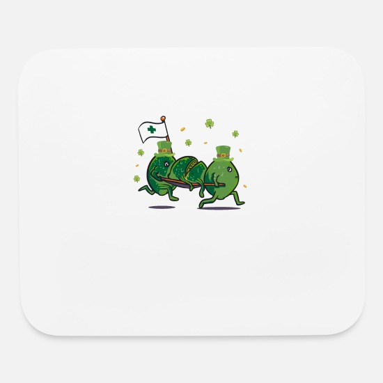 Size Mouse Pads - Funny St Patricks Day Leprechaun Party gift Paddy - Mouse Pad white