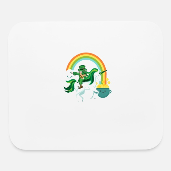 Drinking Mouse Pads - Funny St Patricks Day Leprechaun Party gift Paddy - Mouse Pad white