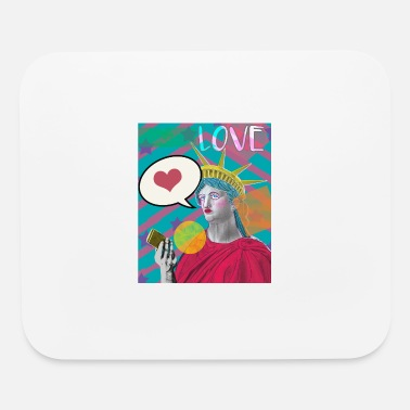 Popartcontest Lady Liberty Social Media Love PopArt - Mouse Pad