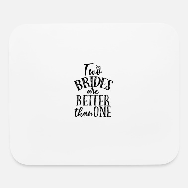 Awesome Two TWO BRIDES DIAMOND BLACK - Mouse Pad