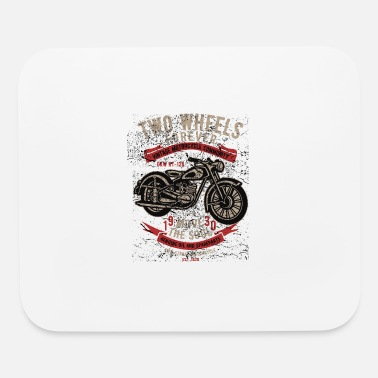 Print Two Wheels Forever - Motorbiker T Limited Edition - Mouse Pad