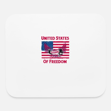 American Citizen New American Citizen United States of America USA Flag - Mouse Pad