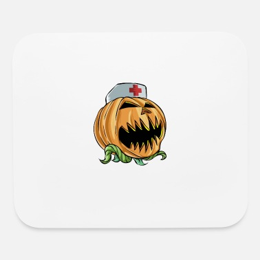 Pumpkin Halloween Scary Pumpkin Nurse - Mouse Pad