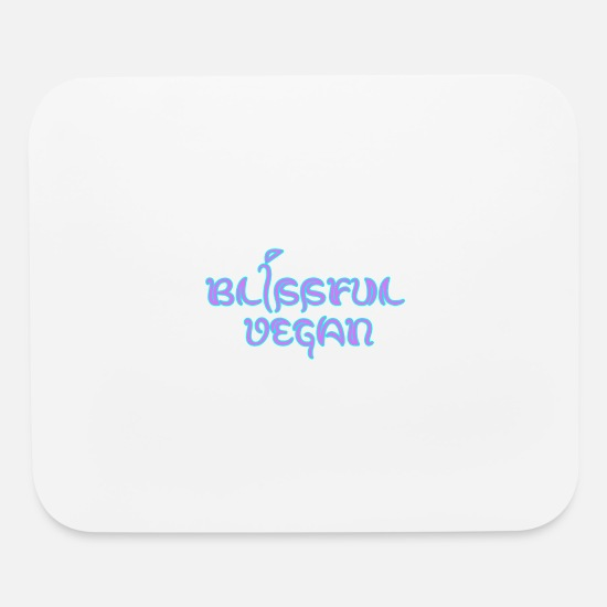 Vegan Mouse Pads - blissful vegan - Mouse Pad white
