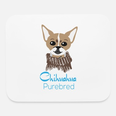 Purebred Dog chihuahua purebred gift idea present dog dogs - Mouse Pad