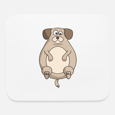 Cute Fat Dog Fat Dog - Mouse Pad
