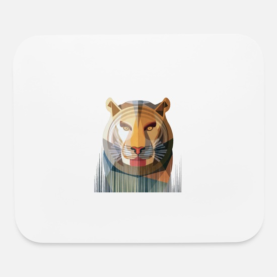 Forest Mouse Pads - stripped tiger - Mouse Pad white