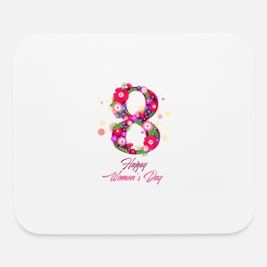 happy women day 8 march - Mouse Pad