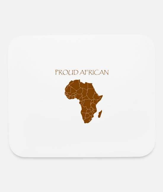 Proud Mouse Pads - Proud African - Mouse Pad white