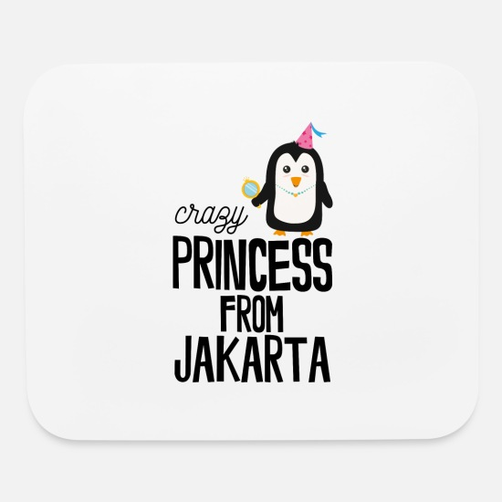 Skies Mouse Pads - crazy Princess from Jakarta - Mouse Pad white