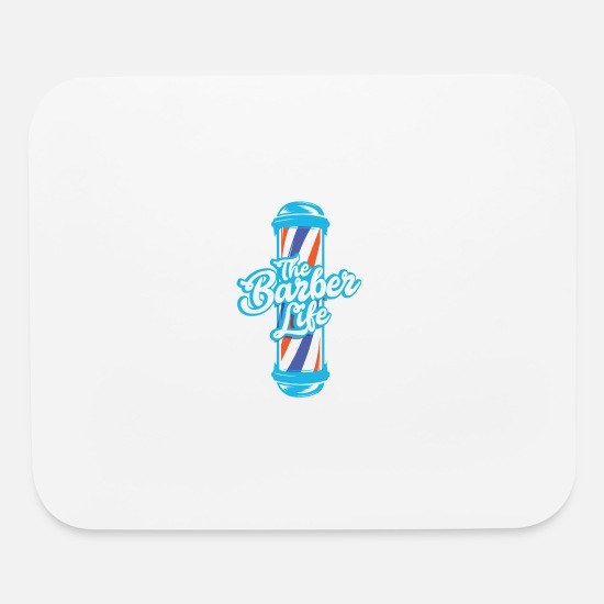Barber Life Mouse Pads - BARBER / HAIRDRESSER: The Barber Life - Mouse Pad white
