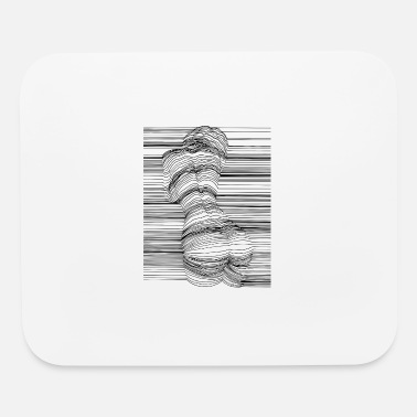 Naked Body Line Art - Mouse Pad