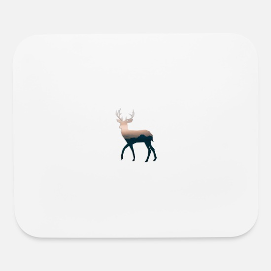 Stag Mouse Pads - deer blue sky for chill design ideas - Mouse Pad white