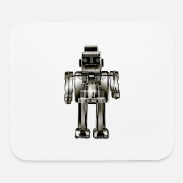 3N2O toy robot x-ray bw - Mouse Pad