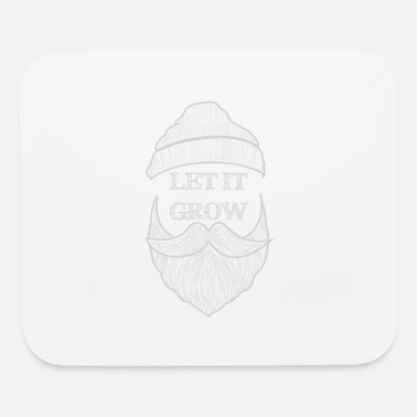 Beard with cap - Let it Grow - Mouse Pad