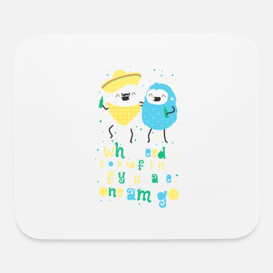 Friends Mouse Pads - Amigos - best friends - Mouse Pad white