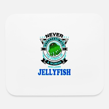 Woman Love A Woman Loves Jellyfish - Mouse Pad