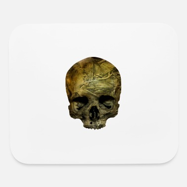 Paper skull / skull paper / paper / crumpled paper - Mouse Pad