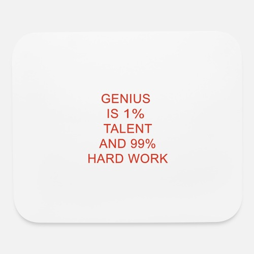 Genius Is 1 Talent And 99 Hard Work In Red By UrbanPuma