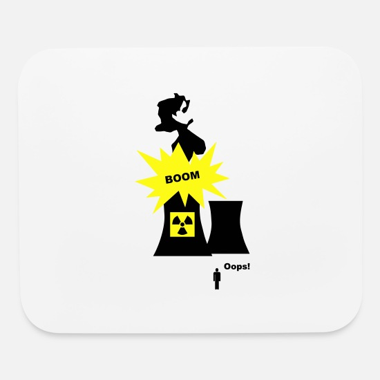 Japan Mouse Pads - Nuclear Energy - Mouse Pad white