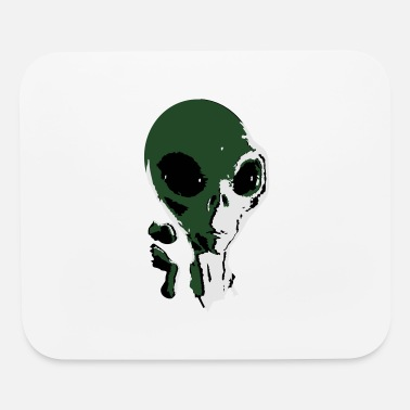 Grey grey alien - Mouse Pad
