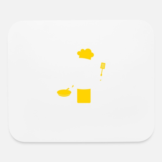 Symbol  Mouse Pads - A Gourmet Chef Cooks In The Kitchen - Mouse Pad white