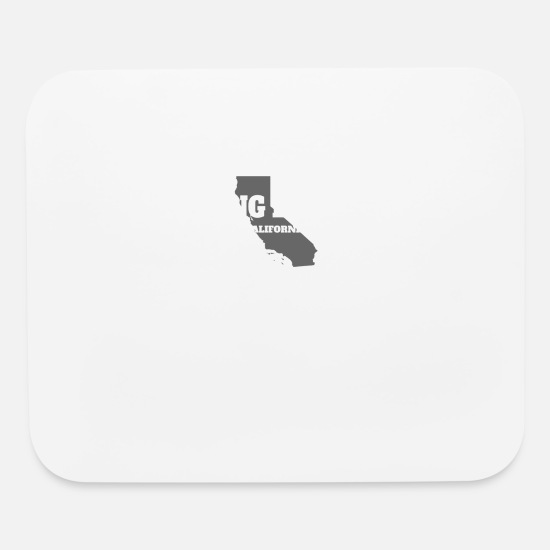 Edition Mouse Pads - CALIFORNIA LONG BEACH US STATE EDITION - Mouse Pad white