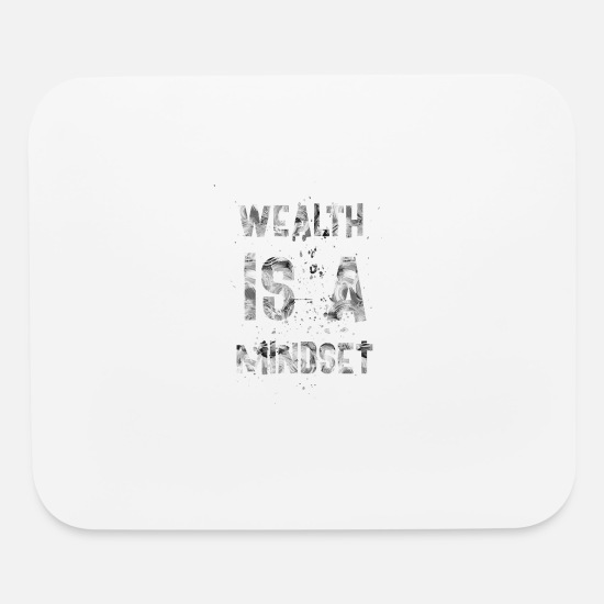 Birthday Mouse Pads - Wealth is a mindset - Mouse Pad white