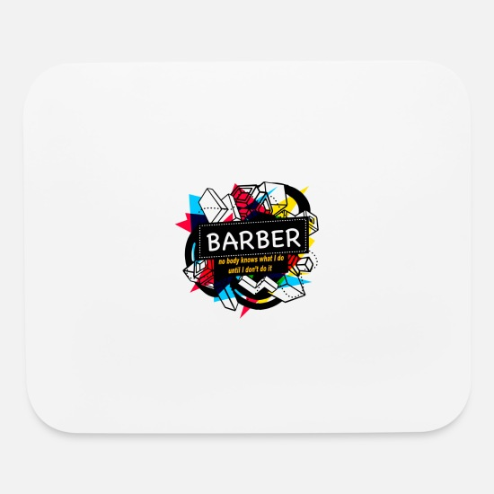 Lady Mouse Pads - BARBER - Mouse Pad white