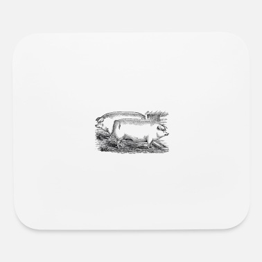 Vintage Chester White Pigs - Mouse Pad