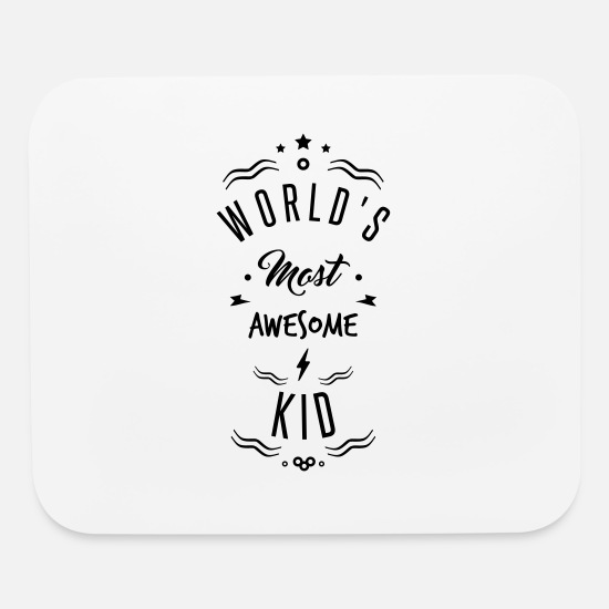 Trip Mouse Pads - awesome kid - Mouse Pad white