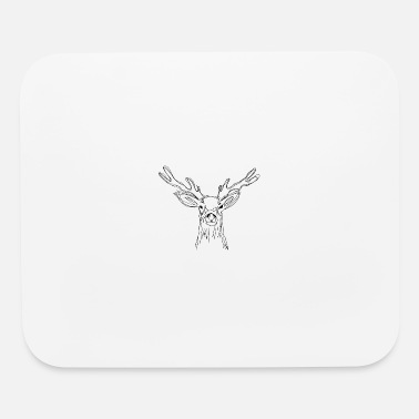 Valentine's Day Cute Hand Drawn Deer, Aninmals, Illustration - Mouse Pad