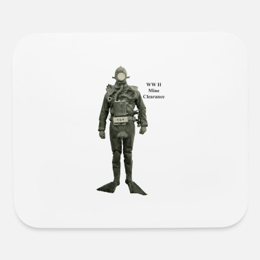 World War Ii Vintage Mine Clearance World War II Diver - Mouse Pad