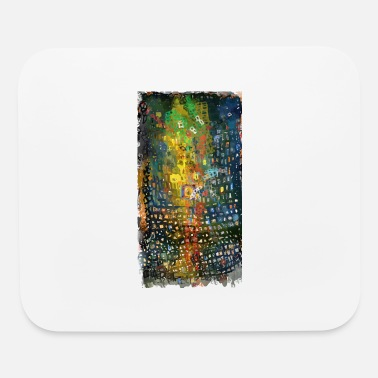 movement of red uneven square | abstract painting - Mouse Pad