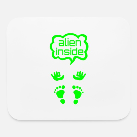Pregnancy Mouse Pads - create alien inside pregnancy tshirt - Mouse Pad white