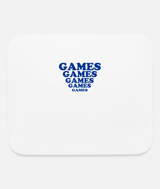 Movie Mouse Pads - Games Games Games - Mouse Pad white