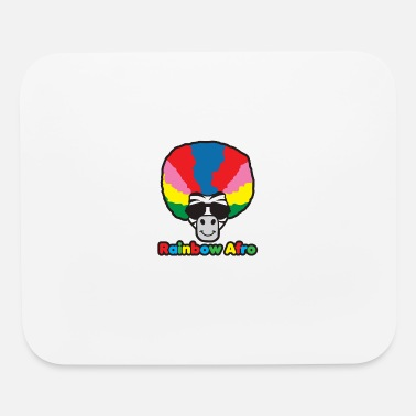 Afro Rainbow Afro - Mouse Pad