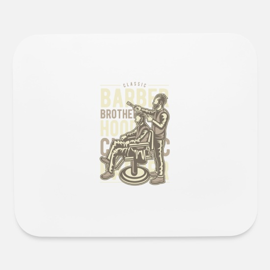 Barber Mouse Pads - Barber - Mouse Pad white