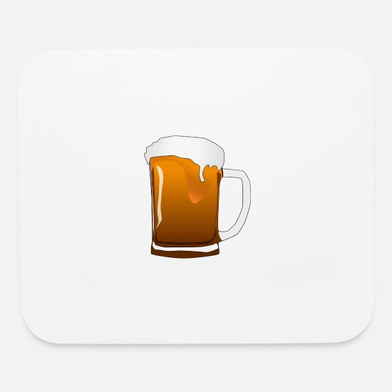 Present Mouse Pads - Pitcher-Beer - Mouse Pad white