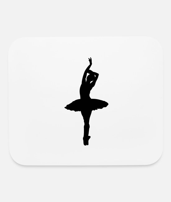 Ballet Dancer Mouse Pads - Pretty Ballerina - Mouse Pad white