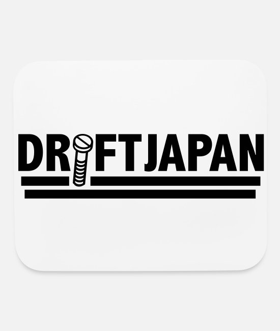 Vehicle Mouse Pads - Drift Japan Hardware Logo - Mouse Pad white