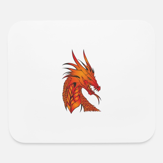 Dragon Mouse Pads - dragon - Mouse Pad white