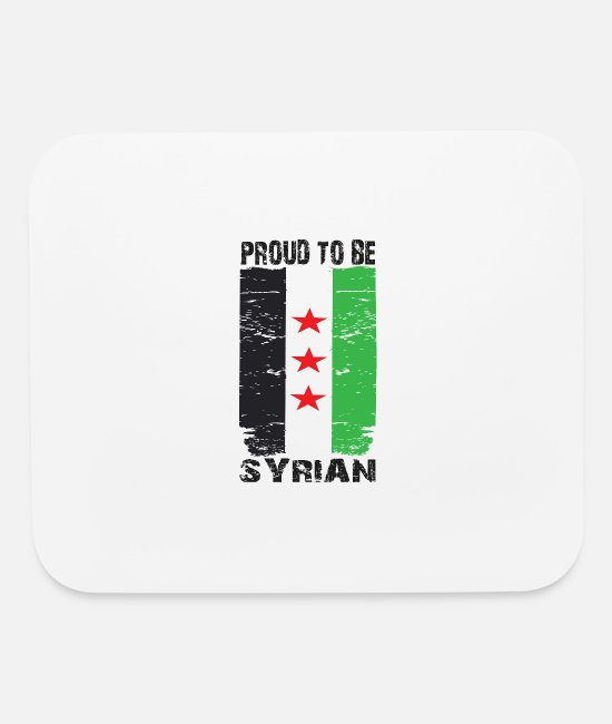 Proud Mouse Pads - Proud to be Syrian - Mouse Pad white