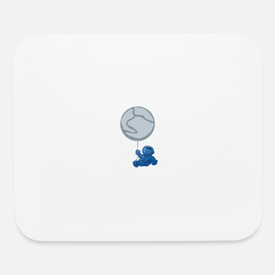 Blue Sky Mouse Pads - Blue Balloon - Mouse Pad white