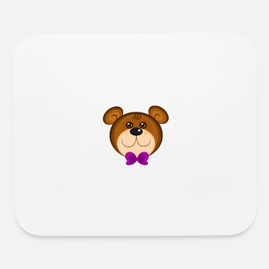 bear face bea - Mouse Pad