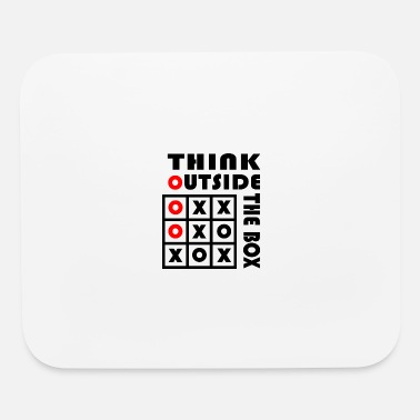 Lateral Thinker Think Outside The Box Tic Tac Toe Geschenk - Mouse Pad