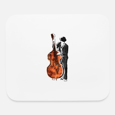 Base Line Double Base Jazz Player - Mouse Pad