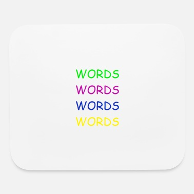 Word Words Words Words - Mouse Pad
