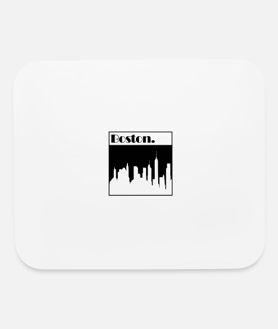 Plain Mouse Pads - Boston - Mouse Pad white